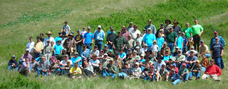 The 2008 Montana Youth Trapper Camp participants pose for a group shot.